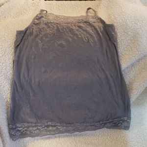 Gray Maurices crinkle tank